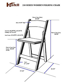 210 Series Chairs Measurements